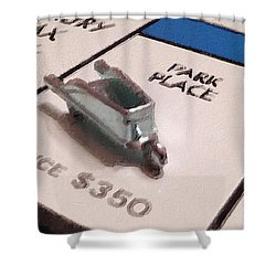 Monopoly Board Custom Painting Park Place Shower Curtain