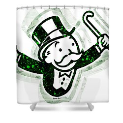 Monopoly Man Shower Curtain