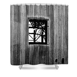 Shower Curtain featuring the photograph Monroe Co. Michigan Barn Window by Daniel Thompson