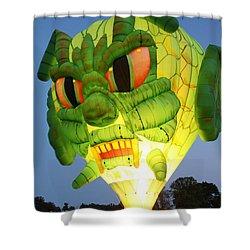 Monster Balloon Shower Curtain by Richard Engelbrecht
