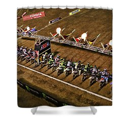 Monster Energy Ama Supercross  450sx Main Shower Curtain