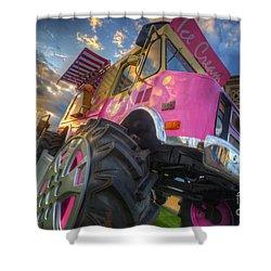 Monster Ice Cream Truck Shower Curtain