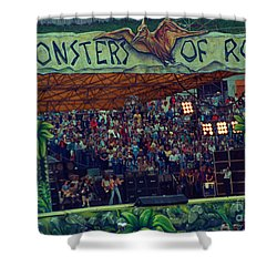Monsters Of Rock Stage While A C D C Started Their Set - July 1979 Shower Curtain