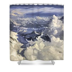 Mont Blanc Shower Curtain by Muhie Kanawati