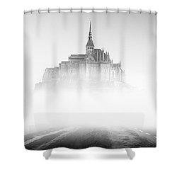 Mont Saint-michel Shower Curtain by Sebastian Musial