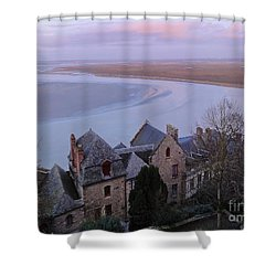 Mont St Michel Tower View Shower Curtain