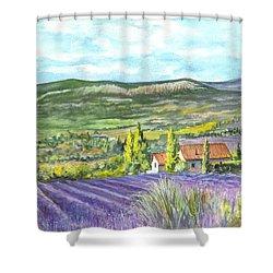 Montagne De Lure En Provence Shower Curtain by Carol Wisniewski