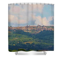 Montalcino Shower Curtain by Marilyn Dunlap