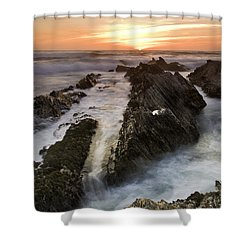 Montana De Oro Sunset 1 Shower Curtain