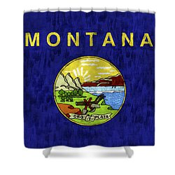 Montana Flag Shower Curtain by World Art Prints And Designs