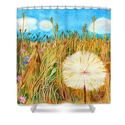 Montana Hike Shower Curtain by C Sitton