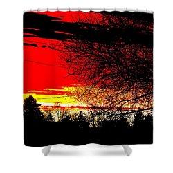 Shower Curtain featuring the digital art Montana January Sunset by Aliceann Carlton