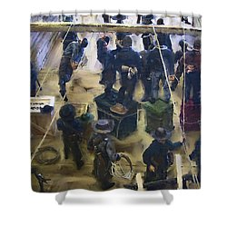 Montana Justice   January 14 1864 Shower Curtain by Daniel Hagerman