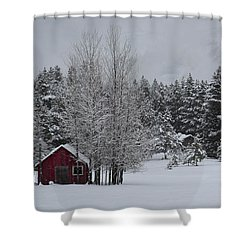 Montana Morning Shower Curtain by Diane Bohna
