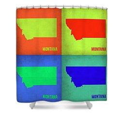 Montana Pop Art Map 1 Shower Curtain