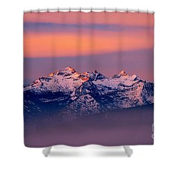 Montana Purple Shower Curtain by Joseph J Stevens
