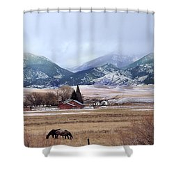 Montana Ranch - 1 Shower Curtain