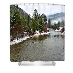 Montana Winter Shower Curtain