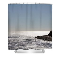 Montauk Beach And Bluff Shower Curtain by John Telfer
