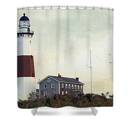 Montauk Dusk Shower Curtain by Keith Armstrong