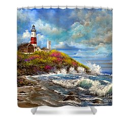 Montauk Lighthouse Shower Curtain by Patrice Torrillo