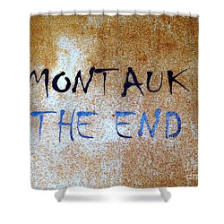 Montauk-the End Shower Curtain