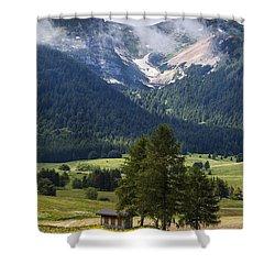 Monte Bondone Shower Curtain