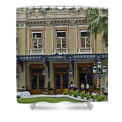 Shower Curtain featuring the photograph Monte Carlo Casino by Allen Sheffield