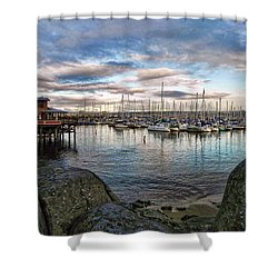 Shower Curtain featuring the photograph Monterey Marina California by Kathy Churchman