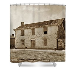 Monterey Whaling Station Circa 1895 Shower Curtain by California Views Mr Pat Hathaway Archives