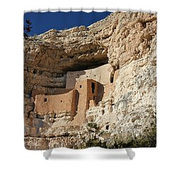 Shower Curtain featuring the photograph Montezuma Castle by Penny Meyers