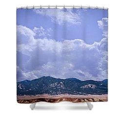 Montezuma County Landmark Shower Curtain by Janice Rae Pariza