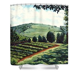 Monticello Vegetable Garden Shower Curtain by Penny Birch-Williams