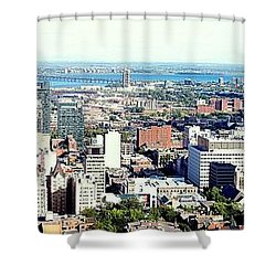 Montreal City View From Mont Royal Shower Curtain by Lingfai Leung