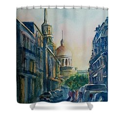 Montreal Skyline Shower Curtain