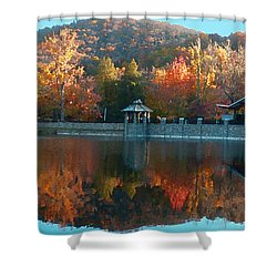 Montreat Autumn Shower Curtain by Lydia Holly