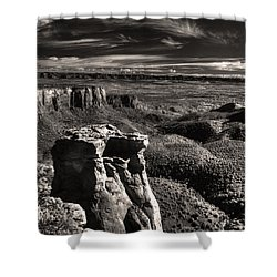 Monument Canyon Monolith Shower Curtain by William Fields