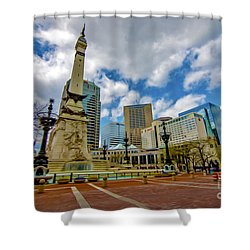 Monument Circle Indianapolis Wide Shower Curtain