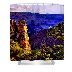 Monument To Grand Canyon  Shower Curtain by Bob and Nadine Johnston