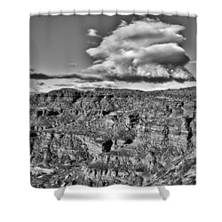 Shower Curtain featuring the photograph Monument Valley 5 Bw by Ron White