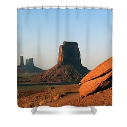 Monument Valley Afternoon Shower Curtain by Jeff Brunton
