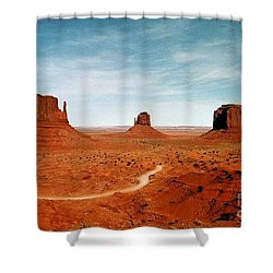 Shower Curtain featuring the photograph Monument Valley by The Art of Alice Terrill