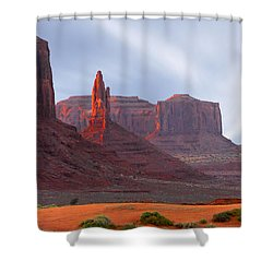 Monument Valley At Sunset Panoramic Shower Curtain