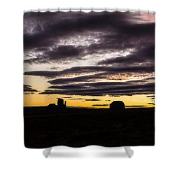 Shower Curtain featuring the photograph Monument Valley First Light by Todd Aaron