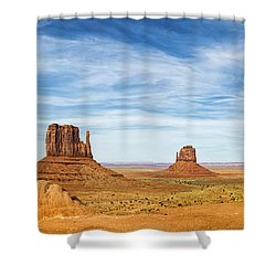 Monument Valley Panorama - Arizona Shower Curtain by Brian Harig