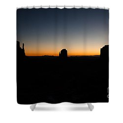 Shower Curtain featuring the photograph Monument Valley Sunrise by Jeff Kolker