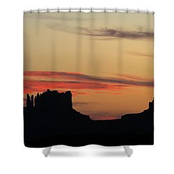 Monument Valley Sunset 1 Shower Curtain by Jeff Brunton