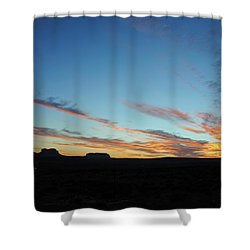 Monument Valley Sunset 2 Shower Curtain