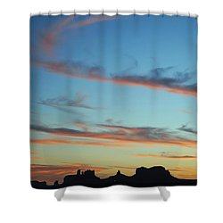Monument Valley Sunset 3 Shower Curtain by Jeff Brunton