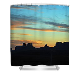 Monument Valley Sunset 4  Shower Curtain